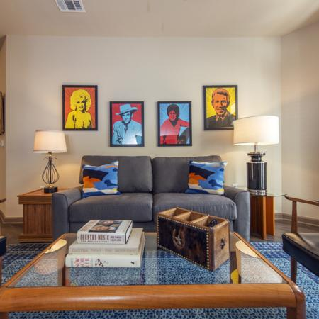 Spacious Living Room | Apartments in Nashville | 909 Flats