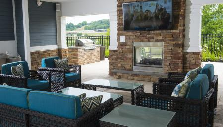 Outside TV Lounge Area | Malvern Pennsylvania Apartments | The Haven at Atwater Village