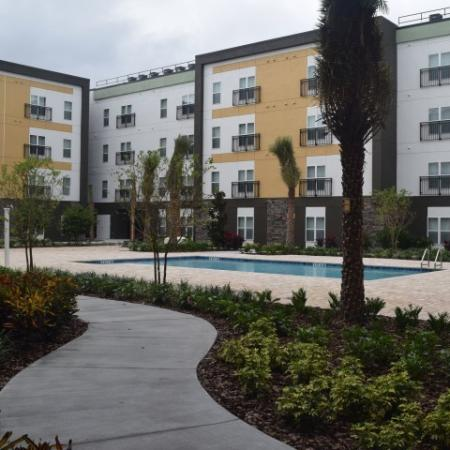 Courtyard pool and social areas