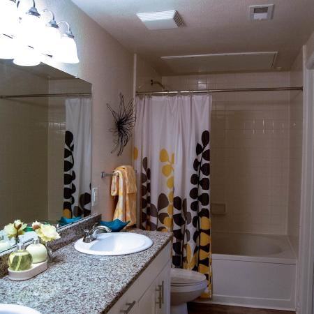 Bathroom | Durham, NC Apartments | For Rent | Lodge at Southpoint Apartments