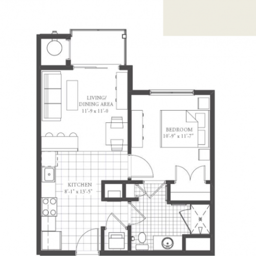 A1- ONE BEDROOM ONE BATH 600 SQ FT