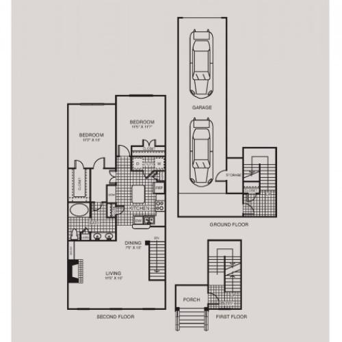 The Caruth Premier Townhome Apartments