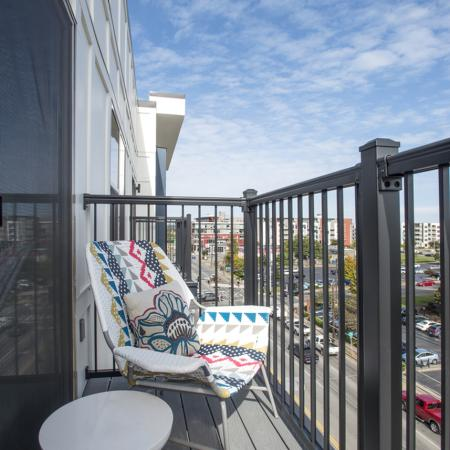 Spacious Apartment Balcony | Nashville Apartments | Eastside Heights