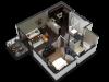 1 Bedroom Floor Plan B4