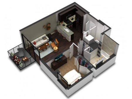 1 Bedroom Floor Plan B4