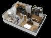 1 Bedroom Floor Plan B5