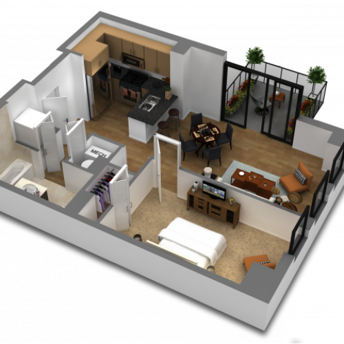 1 Bedroom Floor Plan B5