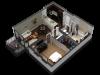1 Bedroom Floor Plan B6a