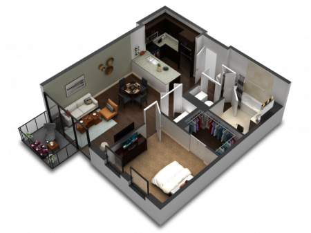 1 Bedroom Floor Plan B6b