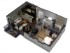 1 Bedroom Floor Plan B7d