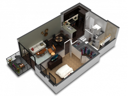 1 Bedroom Floor Plan B3