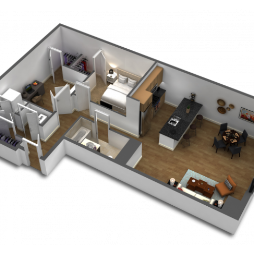 1 Bedroom Floor Plan B10