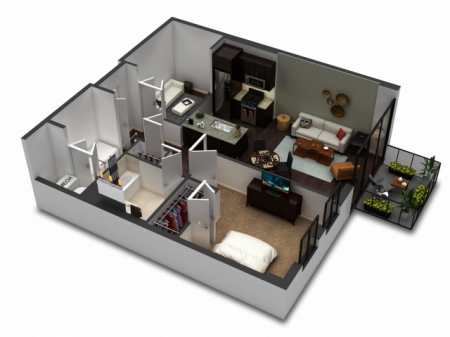 1 Bedroom Floor Plan B11
