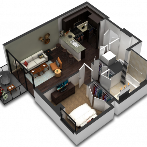 1 Bedroom Floor Plan B4a