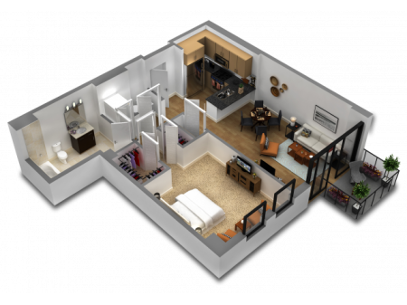 1 Bedroom Floor Plan B8