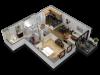 1 Bedroom Floor Plan B8a