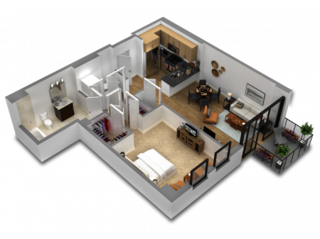 1 Bedroom Floor Plan B8a