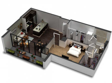 1 Bedroom Floor Plan B9