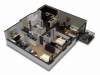 2 Bedroom / 2 Bath Floor Plan C1