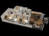 3 Bedroom / 2 Bath Floor Plan D1