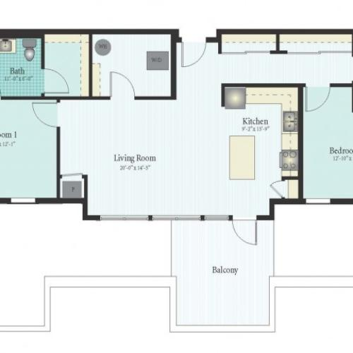 Floor Plan 44 | 2 Bed 2 Bath Floor Plan The Oak View 12