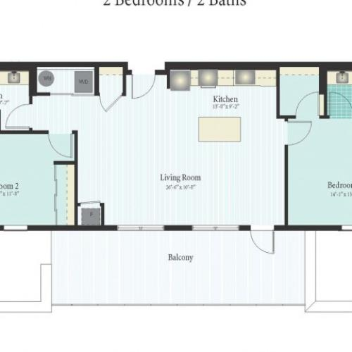 Floor Plan 52 | Glenview IL Apartments | Midtown Square