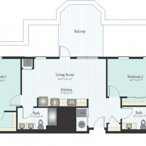 Floor Plan 42 | Apartments For Rent In Glenview | Midtown Square
