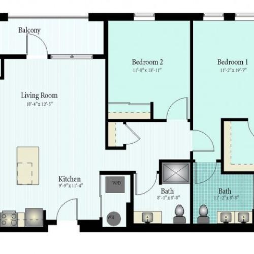 Floor Plan 40 | Apartments For Rent In Glenview IL | Midtown Square