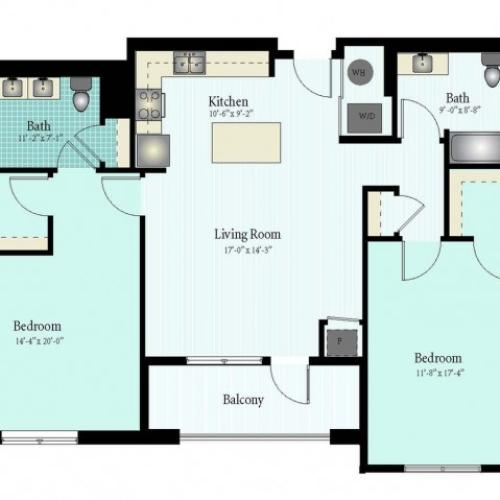 Floor Plan 55 | Glenview IL Apartments | Midtown Square