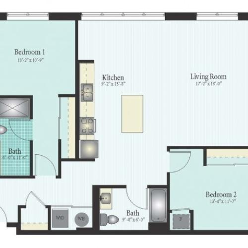 Floor Plan 37 | Apartments Glenview IL | Midtown Square