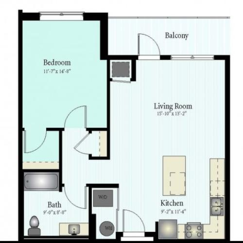 Floor Plan 11 | Glenview Apartments | Midtown Square