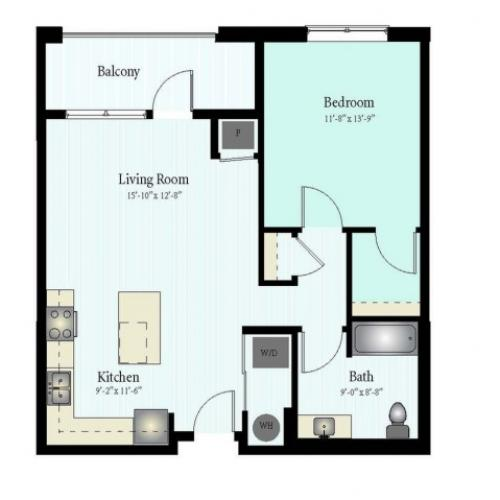 Floor Plan 14 | Apartments In Glenview | Midtown Square