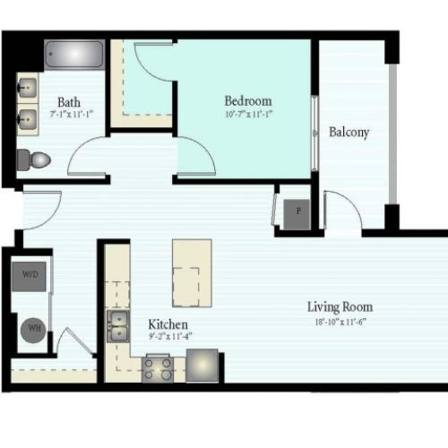 Floor Plan 9 | Apartments In Glenview IL | Midtown Square