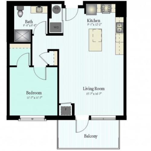 Floor Plan 5 | Apartment For Rent In Glenview IL | Midtown Square