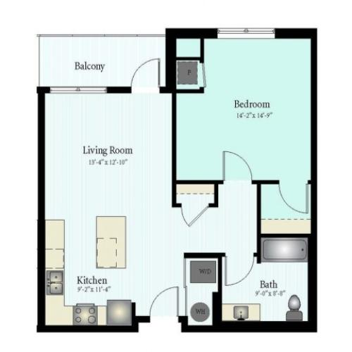 Floor Plan 7 | Apartments Glenview IL | Midtown Square
