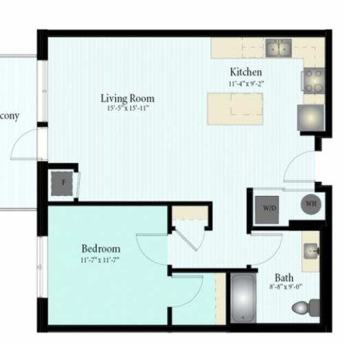 Floor Plan 31 | Glenview Apartments | Midtown Square