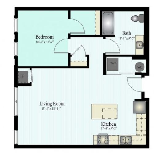 Floor Plan 27 | Apartments Glenview IL | Midtown Square