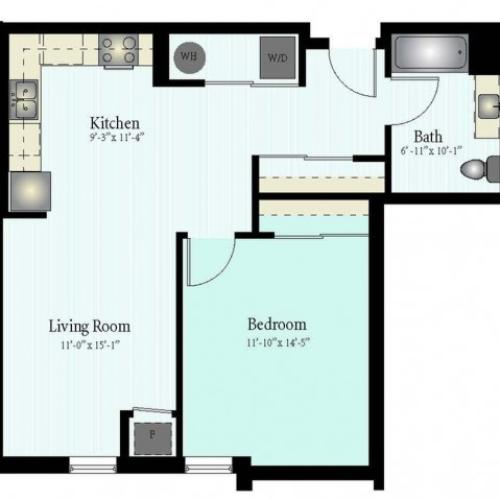 Floor Plan 25 | Apartment For Rent In Glenview IL | Midtown Square