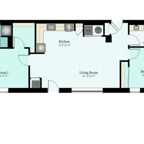 Floor Plan 33 | 2 Bed 2 Bath Floor Plan The Glendale 2