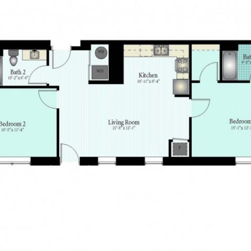 Floor Plan 34 | Apartments In Glenview | Midtown Square