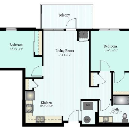 Floor Plan 56 | Glenview IL Apartments | Midtown Square