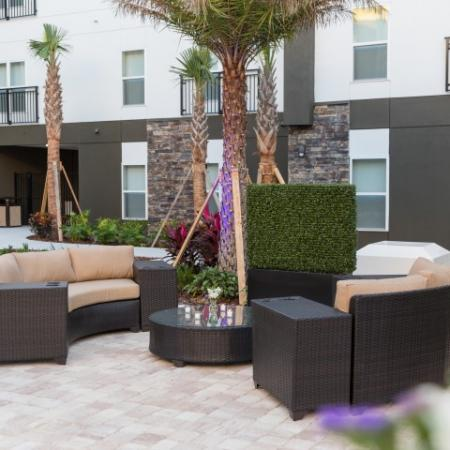 Relax with friends in our courtyard