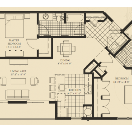 B7- TWO BEDROOM TWO BATH 1286 SQ FT