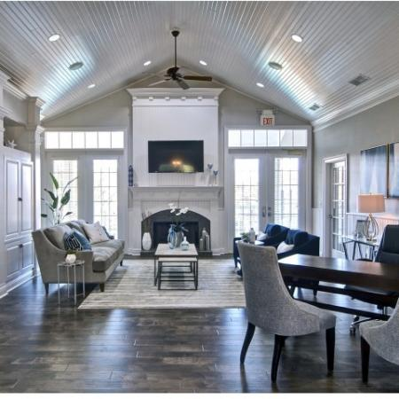 Beautiful clubhouse interior with designer finishes