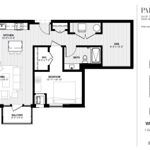 One Bedroom - Wildwood Floor Plan