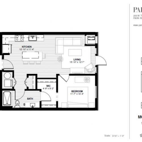 One Bedroom - Morgan A Floor Plan