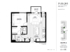 One Bedroom - South A Floor Plan