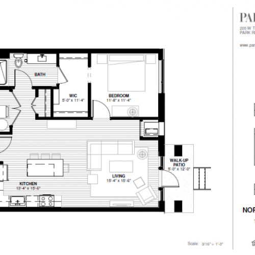 One Bedroom - Northeast A Floor Plan