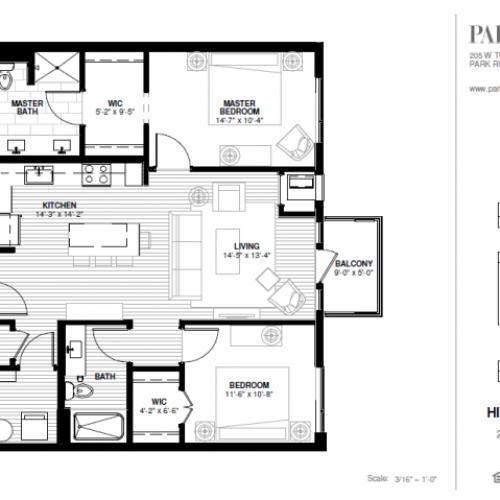 Two Bedroom - Hinkley A Floor Plan