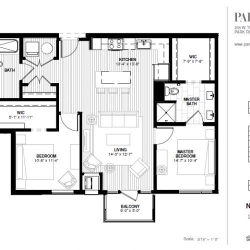 Two Bedroom - Ni-Ridge Floor Plan